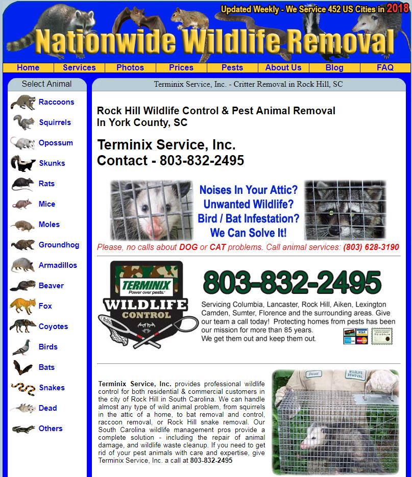 AAAnimalcontrol.com city advertising