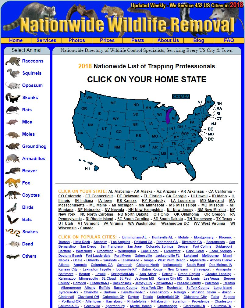 AAAnimalcontrol.com locations